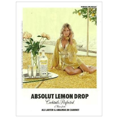 ABSOLUT LEMON DROP Ali Larter Vodka Magazine Ad