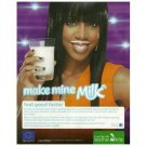 MAKE MINE MILK British Milk Mustache Magazine Ad KELLY ROWLAND