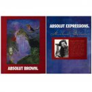 ABSOLUT BROWN and ABSOLUT EXPRESSIONS Vodka Magazine Ad MICHAEL BROWN 2pp