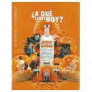 ¿A QUÉ SABES HOY? Absolut Mandrin Vodka Magazine Ad SPANISH TEXT