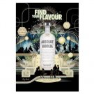 FIND YOUR FLAVOUR Absolut Vanilia Vodka Magazine Ad BRITISH SPELLING