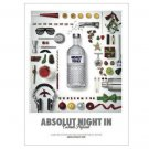 ABSOLUT NIGHT IN Vodka Magazine Ad