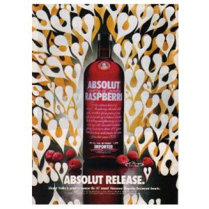 ABSOLUT RELEASE Vodka Magazine Ad PHIL FROST Vancouver Restaurant Awards Caption