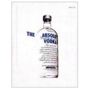 THE ABSOLUT VODKA Magazine Ad WHITE BACKGROUND