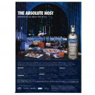 THE ABSOLUTE HOST Absolut Vodka Magazine Ad
