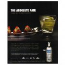 THE ABSOLUTE PAIR Absolut Vodka Magazine Ad