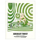 ABSOLUT TWIST w/ Kate Beckinsale Vodka Magazine Ad