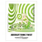 ABSOLUT TONIC TWIST w/ Kate Beckinsale Vodka Magazine Ad
