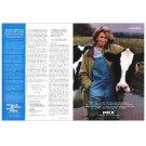MARTHA STEWART ON HER RANCH Milk Mustache Magazine Ad © 1997 w/sidebar ad