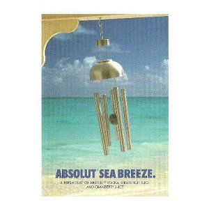 ABSOLUT SEA BREEZE - 4-Page Brochure w/ 5 Cocktail Recipes