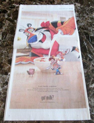 Tony the Tiger SNAP CRACKLE POP & MINI got milk? USA Today Newspaper Ad 2012