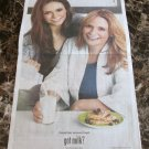 MICHAELA & NINA DOBREV got milk? USA Today Newspaper Ad 2012