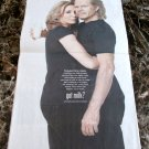 FELICITY HUFFMAN and WILLIAM H MACY got milk? USA Today Newspaper Ad 2011