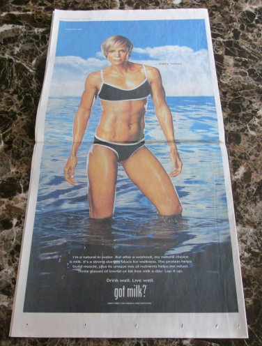 DARA TORRES got milk? USA Today Newspaper Ad 2010