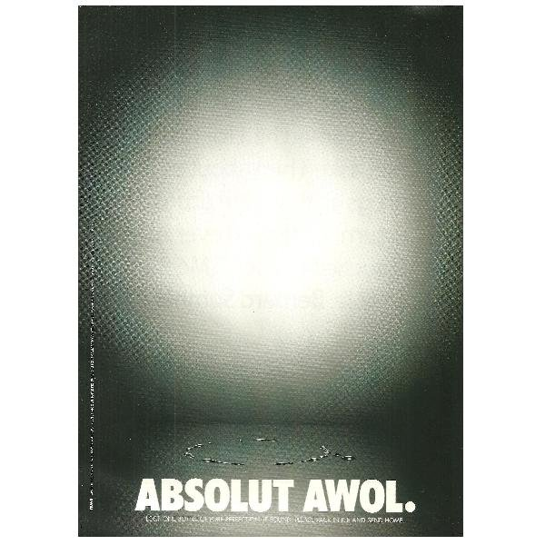 ABSOLUT AWOL Vodka Magazine Ad