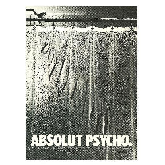 ABSOLUT PSYCHO Vodka Magazine Ad