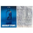 ABSOLUT STORY & WINNER Canadian Vodka Magazine Ad - 2 PAGES