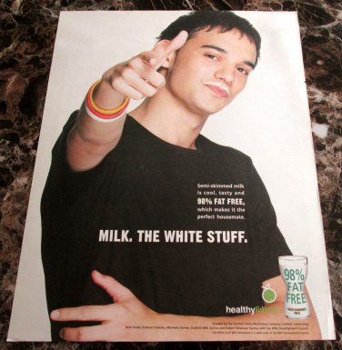 MILK. THE WHITE STUFF Scottish Milk Mustache Newspaper Magazine Ad 2005 - #1