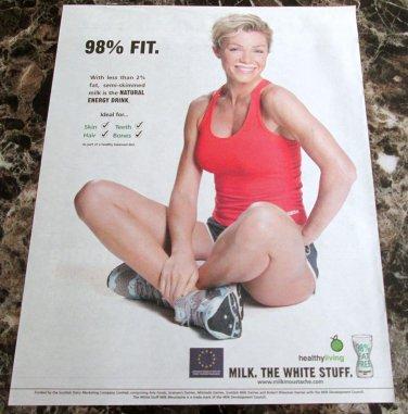 MILK. THE WHITE STUFF Scottish Milk Mustache Newspaper Magazine Ad 2006 - #3