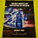 ABSOLUT FACET Canadian Vodka Magazine Ad NEW FOR 2016