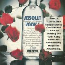 ABSOLUT BRAVO Sports Illustrated Magazine Congratulatory Ad