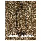 ABSOLUT BLECKNER Vodka Magazine Ad (Ross Bleckner) HARD TO FIND!