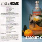 ABSOLUT COOL & ABSOLUT INSTRUCTIONS Canadian Vodka Magazine Ads 2pp RARE!
