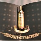 ABSOLUT ATTRACTION Bling Bling Spectacular 3-D Pop-Up Magazine Ad VERY RARE!