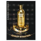 ABSOLUT ATTRACTION Bling Bling Magazine Ad HARD TO FIND!