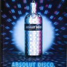 ABSOLUT DISCO French Vodka Magazine Ad HARD TO FIND!
