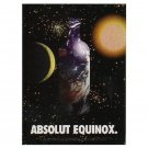 ABSOLUT EQUINOX Canadian Vodka Magazine Ad GETTING MORE RARE EVERY DAY!