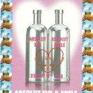 ABSOLUT EVA & ADELE Italian Vodka Magazine Ad RARE!