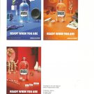 ABSOLUT BOTANIK READY WHEN YOU ARE - 3 Small Ads on 1 Page