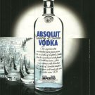 ABSOLUT GROUPIES European Vodka Magazine Ad RARE!