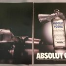 ABSOLUT GRAIL Vodka Magazine Ad - 2 Pages