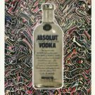 ABSOLUT GARTEL Vodka Magazine Ad w/ Artwork by Laurence Gartel