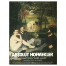 ABSOLUT HOFMEKLER Vodka Magazine Ad Homage to Edouard Manet by Ori Hofmekler