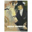 ABSOLUT HOFMEKLER Vodka Magazine Ad Homage to Toulouse-Lautrec by Ori Hofmekler
