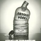 ABSOLUT IMPOTENCE Canadian Parody Vodka Magazine Ad