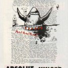 ABSOLUT JUNGER Vodka Magazine Ad w/ Text by Sebastian Junger