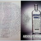 ABSOLUT MAGNETISM Vodka Magazine Ad - 2 Pages