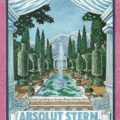 ABSOLUT STERN Vodka Magazine Ad w/ Artwork by Robert A.M. Stern HARD TO FIND!