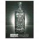 ABSOLUT SUBODH GUPTA Vodka Magazine Ad From India RARE!
