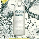 ABSOLUT TONIC Vodka Magazine Ad RARE VANILIA VERSION From France