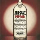 ABSOLUT PEPPAR Vodka Magazine Ad - 2 PAGES