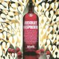 ABSOLUT RASPBERRI Vodka Magazine Ad PHIL FROST Spanish Text