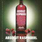 ABSOLUT RASPBERRI French Vodka Magazine Ad