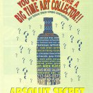 ABSOLUT SECRET Vodka Magazine Ad HARD TO FIND!