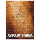 ABSOLUT VIENNA Vodka Magazine Ad
