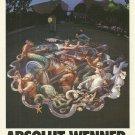 ABSOLUT WENNER Vodka Magazine Ad w/ Artwork by Kurt Wenner